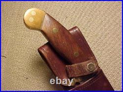 Original Very Nice Custom Wwii Fighting Knife From Usn Seabees Veteran