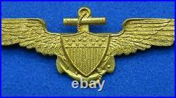 Original Very Rare Wwi Us Navy/usmc Pilot Wing-robert Stoll Pattern