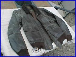 Original Vietnam Usn Us Navy Pilot Leather G-1 Flight Jacket