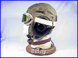 Original WW II U. S. Marine/Navy FLYING HELMET Green Nylon