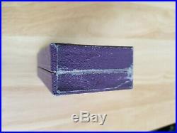 Original WW2 Short Navy Marine US Purple Heart EMPTY CASE WITH BOX ONLY