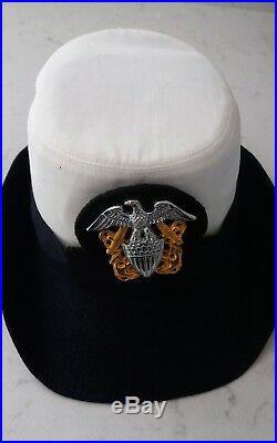 Original WW2 US Navy WAVES Officer UNIFORM Jacket and Skirt & Cap UK Size 8 10