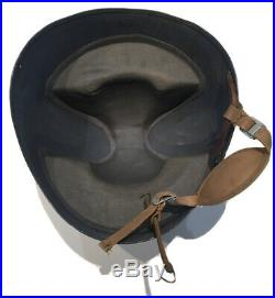 Original WWII U. S. N. US Navy Talker Helmet MKII With D-Day & Strap