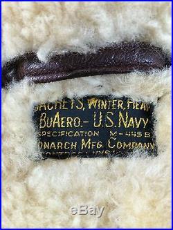 Original WWII USN M-445-B / B-3 Flight Bomber Jacket Buaero. Update Condition See