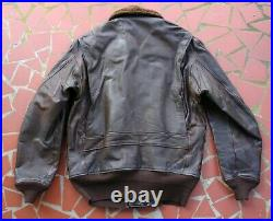 Original Ww-ii Usn M-422a Ed Church M-422 Leather Flight Jacket Large Size 42