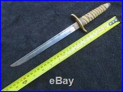 Original Ww2 Japanese Navy Officer Dagger Dirk And Scabbard