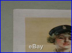 Original Wwi Recruiting Poster By Howard Christy I Want You For The Navy