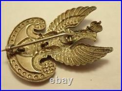 Poland Ww2 Original Gaunt Made Polish Navy Eagle Cap Badge Circa 1941
