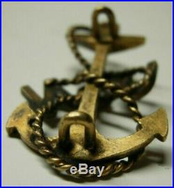 Pre 1905 US Navy Chief's Hat Badge Early Two loop Backing