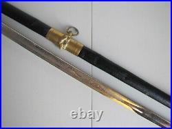 Pre-WWII Horstmann Model 1852 USN US Navy-Naval Officers Etched Sword withScabbard