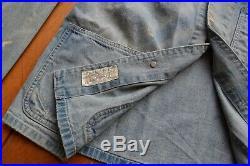 RRL P41 Denim Jacket Chore Coat DoubleRL Laurel Buttons Unisex USN USMC RRP 499