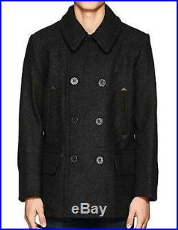 RRL Ralph Lauren Men 1910s USN English Wool Double Breasted Peacoat Jacket Coat
