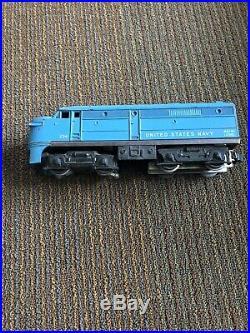 Rare Lionel 224 United States Navy Alco AB diesel 1960 postwar Train Car SET