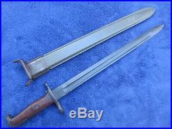 Rare Original Us M 1905 Sa Made In 1913 Bayonet And Usn Scabbard