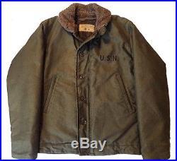 Rare Vintage WW2 1940s USN N-1 Deck Jacket Mint Condition Size 36