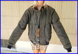 Rare WW2 Navy Deck Jacket, Blue Style With Metal Clip Fasteners