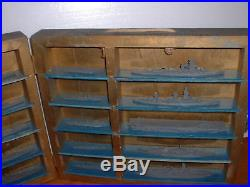 Rare WWII U. S. Navy and Japanese Navy Recognition Set of Miniature Models in Box