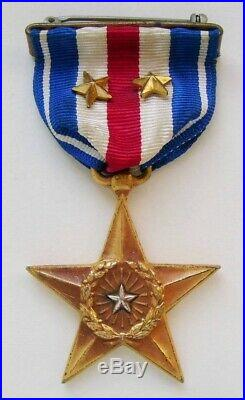 Rare early WWII wrap brooch Navy or Marine Corps gallantry medal, US Mint