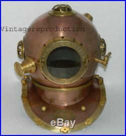 Replica antique diving helmet U. S navy mark V deep sea divers helmet scuba 18