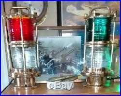 Restored Rare U. S. Navy World War II Ships Signal Light Set U. S. N. Green Red