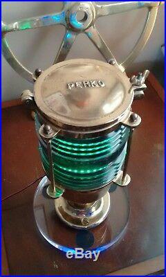Restored Rare WWII U. S. Navy PERKO 403 Liberty Ship Morse Code Light Night Light