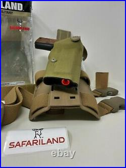 Safariland 6004USN SLS Tactical RH Holster for 1911 5 with RAIL, Cordura Khaki