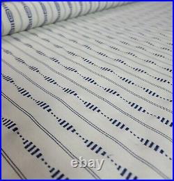 Schumacher Fabric 71901 Rania Stripe, Navy 3.3 YDS