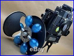 Simmon Bros. Omega 120 Camera with Turret flash, 90mm Wollensak Omicron & USN Case