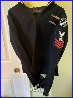 Spectacular Usn Pt Boat Uniform Group With Pt 241 Commissioning Pennant
