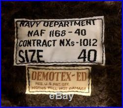 The Real McCoy's NAF Zip Deck N-1 USN Navy Jacket Alpaca Demotex 40 Japan Minty