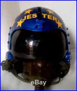 Top Gun Jester Flight Helmet Movie Prop Pilot Naval Aviator Usn Navy