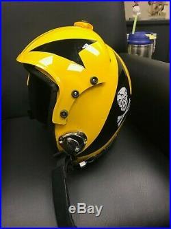Top Gun Jolly Rogers Flight Helmet / Movie Prop Pilot Naval Aviator Usn Navy