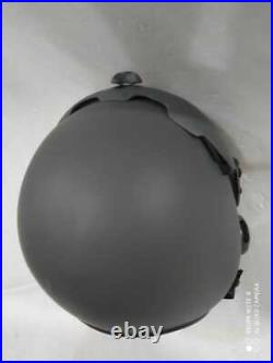 Top Gun Plain Grey Flight Helmet Movie Prop Pilot Naval Aviator Usn Navy