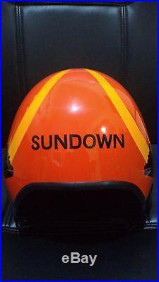 Top Gun Sundown Flight Helmet Movie Prop Pilot Naval Aviator Usn Navy