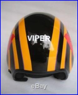 Top Gun Viper Flight Helmet Movie Prop Pilot Naval Aviator Usn Navy