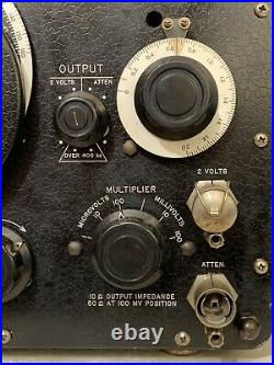 U. S. Military Navy Standard Signal Generator Type No 1001-A General Radio Co Old