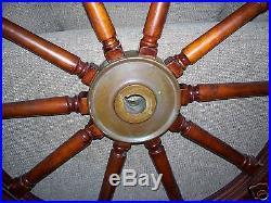 U. S. NAVY Antique Wood Ship Wheel 54