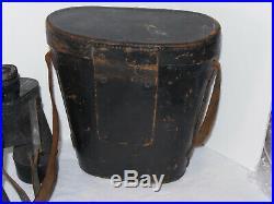 U. S. NAVY WWII MARK 21'SARD' SQUARE D 7x 50 BINOCULARS WithLEATHER CASE! BU. AERO