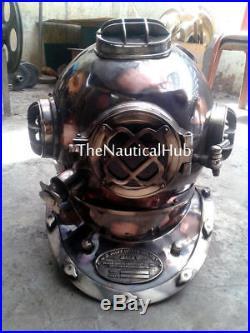 U. S Navy Antique Replica Diving Helmet Mark V Deep Sca Divers Helmet Vintage 18
