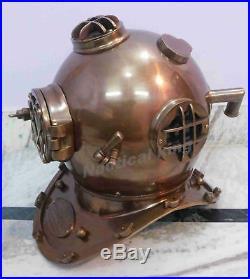 U. S Navy Antique Style Morse Diving Helmet Mark V Solid Iron Full Size 18