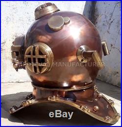 U. S Navy Antique Vintage Diving Helmet Mark V Deep Sea Divers Helmet Replica 18