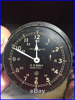U. S. Navy Chelsea Ships Clock WW II Era