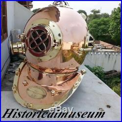 U S Navy Copper-Brass'Mark V full size Divers Diving Helmet gift