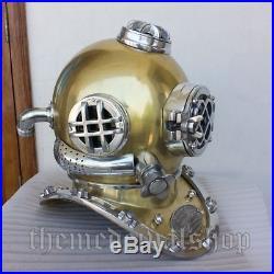 U. S Navy Decorative deep Sea gift Mark V Vintage old Diving Divers Helmet Scuba