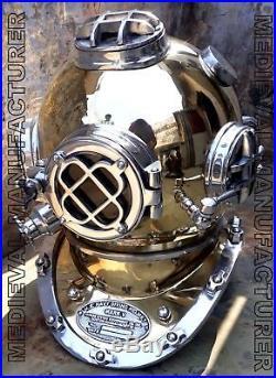 U. S Navy Diving Helmet Antique 18mark V Deep Sea Divers Helmet Vintage Replic
