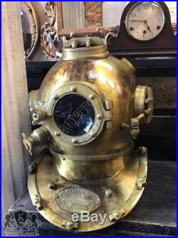U S Navy Diving Helmet Boston Mark V Sea Scuba Divers Marine Helmet Vintage 18