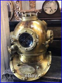 U S Navy Diving Helmet Boston Sea Scuba Mark V Divers Marine Helmet Vintage 18