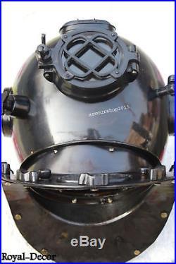 U. S Navy Mark Antique Solid Brass & Morse Diving Divers Helmet Christmas Gift