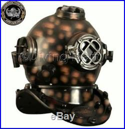 U. S Navy Mark V Antique Solid Copper & Brass Diving Divers Helmet Full 18 Gift