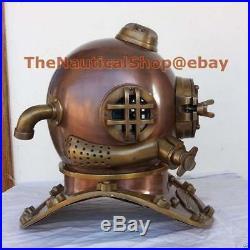 U. S Navy Mark V Real Antique Vintage Marine Diving Divers Helmet Xmas Gift a